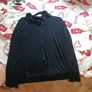 All black button up